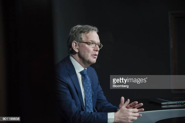 Steven Maijoor chairman of the European Securities and Markets Authority speaks during a Bloomberg Television interview in Paris France on Thursday...