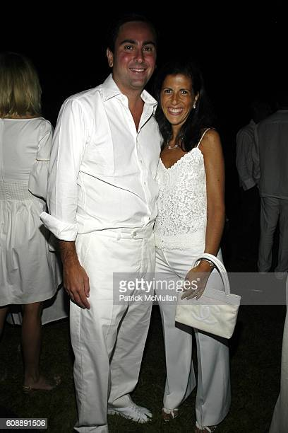 Steven Mandis and Alexandra Mandis attend ULLA KEVIN PARKER Host White End Of Summer Party at on August 31 2007