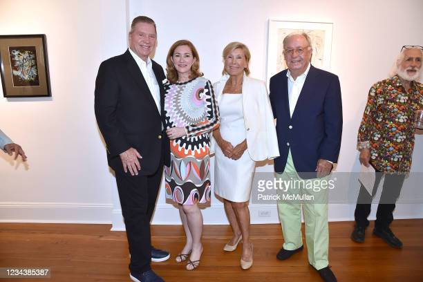 "Steven Manolis, Myrthia Moore, Khristl Meszkat and Kenneth Meszkat attend the release of Christophe von Hohenberg's new book ""The White Album of The..."