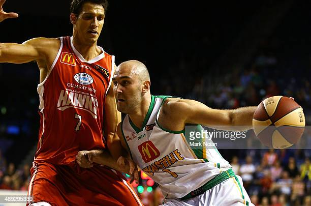 Steven Markovic of Townsville in action during the round 18 NBL match between the Wollongong Hawks and the Townsville Crocodiles at Wollongong...