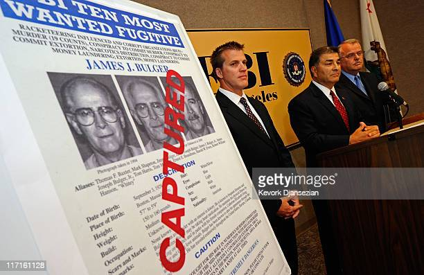 Steven Martinez, FBI assistant director in charge in Los Angeles, Douglas Price, FBI Assistant Special Agent in Charge, and LAPD Deputy Chief, David...