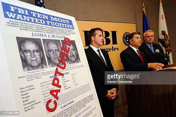 Steven Martinez, FBI assistant director in charge in Los Angeles, Douglas Price, FBI Assistant Special Agent in Charge, and LAPD Deputy Chief,David...
