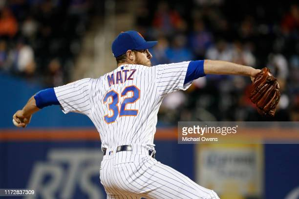 Steven Matz of the New York Mets pitches against the Philadelphia Phillies in the second inning during a game at Citi Field on September 06, 2019 in...