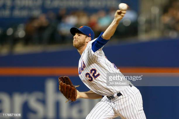 Steven Matz of the New York Mets pitches during the first inning against the Miami Marlins at Citi Field on September 23, 2019 in New York City.