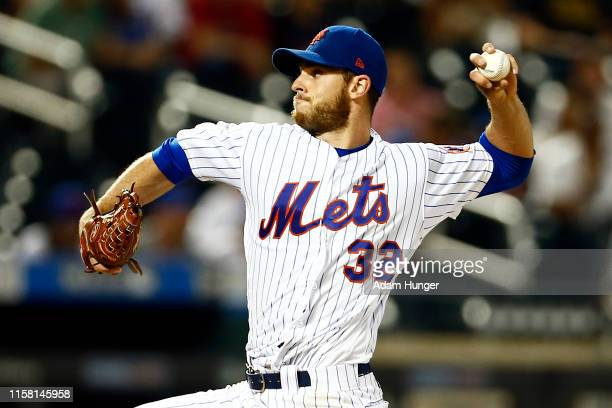 Steven Matz of the New York Mets pitches during the ninth inning against the Pittsburgh Pirates at Citi Field on July 27, 2019 in the Flushing...