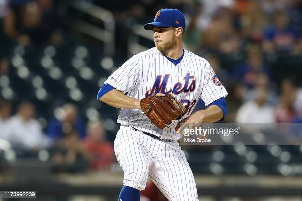 Steven Matz of the New York Mets pitches in the first inning against the Arizona Diamondbacks at Citi Field on September 11, 2019 in the Queens...