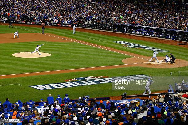 Steven Matz of the New York Mets pitches in the first inning against the Kansas City Royals during Game Four of the 2015 World Series at Citi Field...