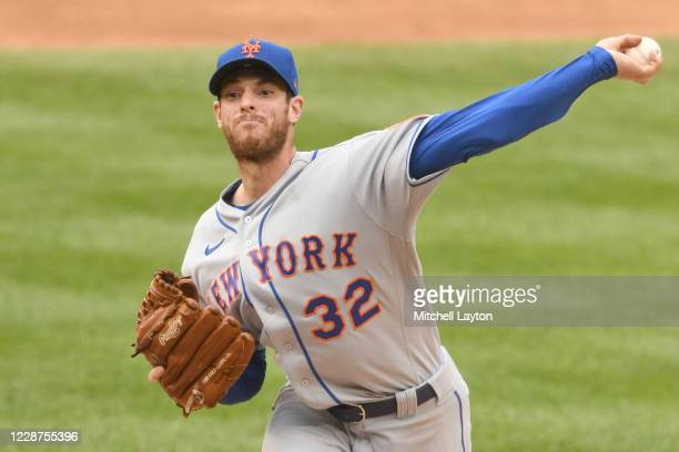 Steven Matz of the New York Mets pitches in the third inning during a baseball game against the Washington Nationals at Nationals Park on September...