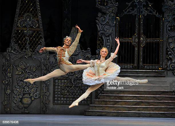 Steven McRae as The Prince and Iana Salenko as Sugar Plum Fairy in the Royal Ballet's production of Peter Wright's The Nutcracker at the Royal Opera...