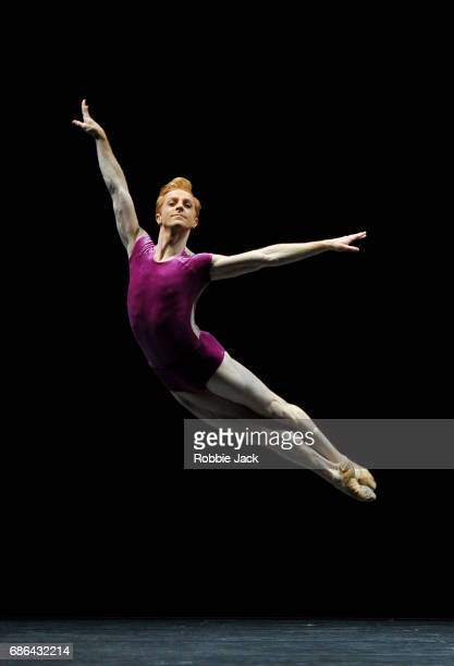Steven McRae in the Royal Ballet's production of William Forsythe's The Vertiginous Thrill of Exactitude at The Royal Opera House on May 18 2017 in...