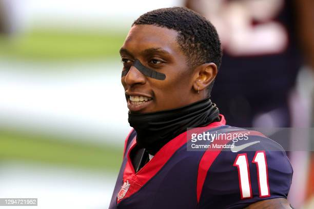 Steven Mitchell of the Houston Texans looks on against the Tennessee Titans during a game at NRG Stadium on January 03, 2021 in Houston, Texas.