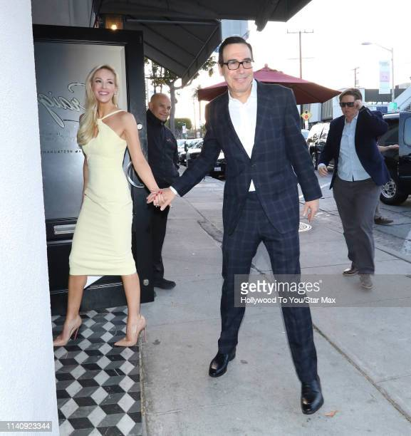 Steven Mnuchin and Louise Linton are seen on May 2, 2019 in Los Angeles, California.