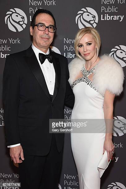 Steven Mnuchin and Louise Linton attend the 2016 Library Lions Gala at New York Public Library - Stephen A Schwartzman Building on November 7, 2016...