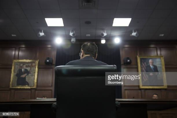 Steven Mnuchin US Treasury secretary attends a House Appropriations Subcommittee hearing on the fiscal year 2019 budget in Washington DC US on...