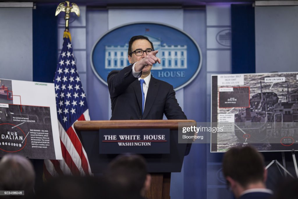Treasury Secretary Mnuchin Speaks During White House Press Briefing