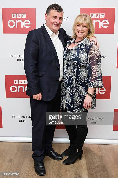 Steven Moffat and Sue Vertue attend a screening of the Sherlock 2016 Christmas Special at Ham Yard Hotel on December 19, 2016 in London, England.