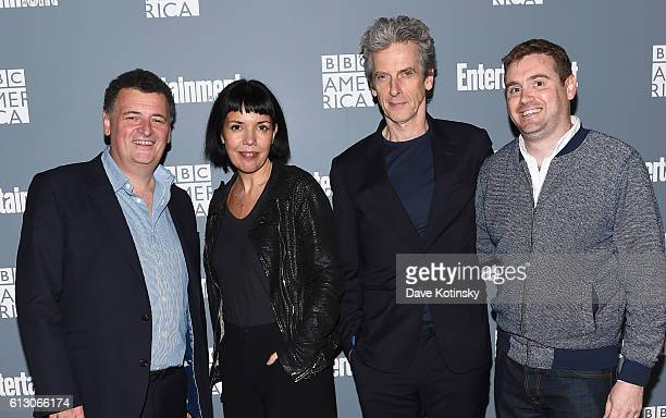 Steven Moffat Sarah Barnett Peter Capaldi and Brian Minchin attend EW Hosts An Evening With BBC America on October 6 2016 in New York City