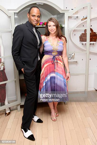 Steven Moore and Danielle Sanders attend TRACY REESE Secret Garden Party at Tracy Reese Boutique on March 27 2008 in New York City