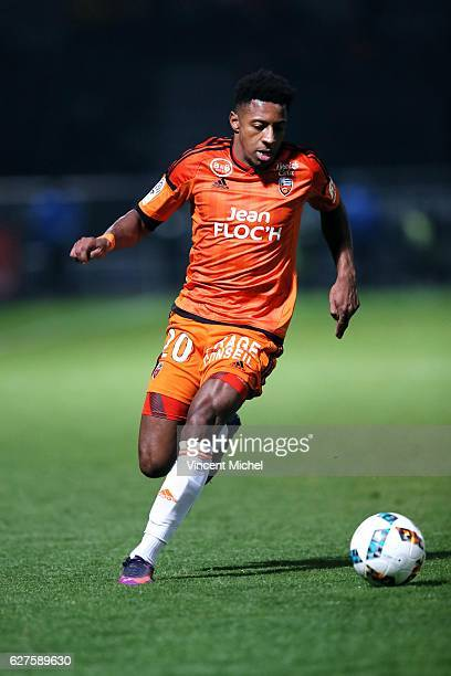 Steven Moreira of Lorient during the Ligue 1 match between Angers SCO and FC Lorient on December 3 2016 in Angers France