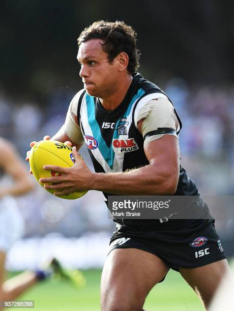 Steven Motlop of Port Adelaide during the round one AFL match between the Port Adelaide Power and the Fremantle Dockers at Adelaide Oval on March 24...