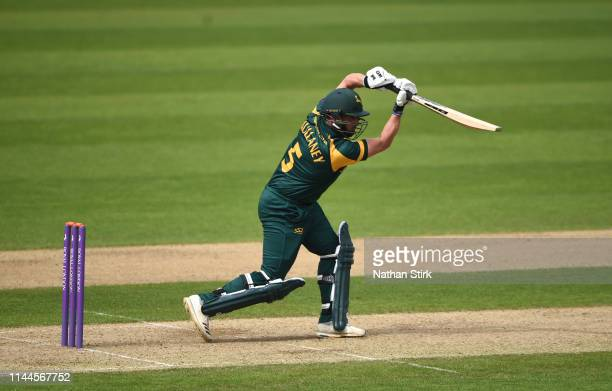 Steven Mullaney of Nottingham batting during the Royal London One Day Cup match between Warwickshire and Nottinghamshire at Edgbaston on April 23,...