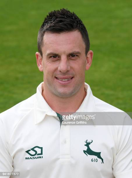 Steven Mullaney of Nottinghamshire County Cricket Club poses for a portrait during the Nottinghamshire CCC Photocall at Trent Bridge on April 4 2018...