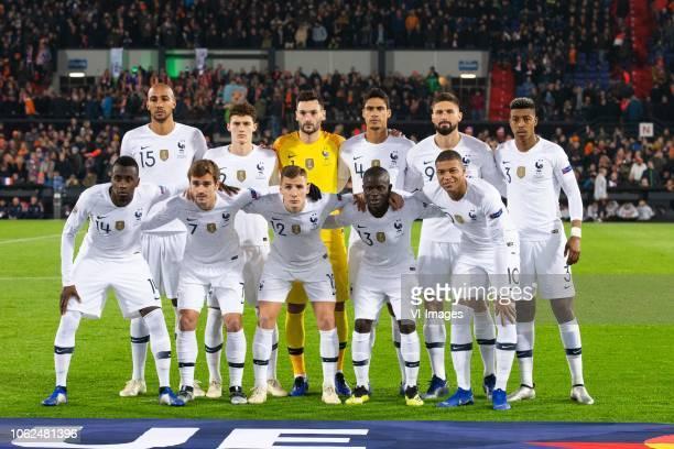 Steven N Zonzi of France Benjamin Pavard of France France goalkeeper Hugo Lloris Raphael Varane of France Olivier Giroud of France Presnel Kimpembe...