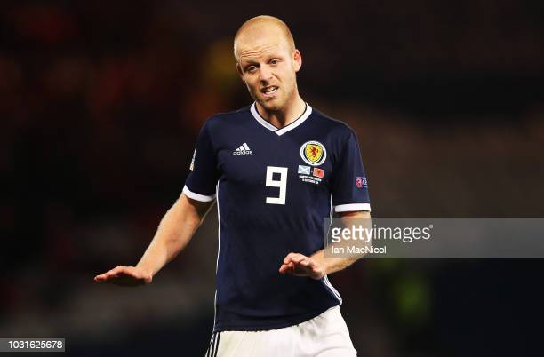 Steven Naismith of Scotland is seen during the UEFA Nations League C group one match between Scotland and Albania at Hampden Park on September 10...