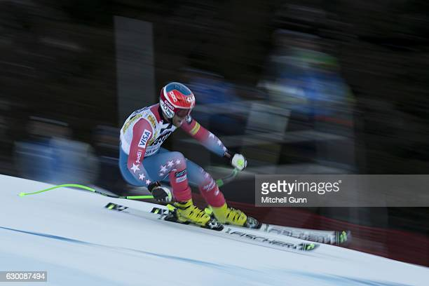Steven Nyman of the United States races down the Saslong course during the Audi FIS Alpine Ski World Cup Men's Super G on December 16 2016 at Val...