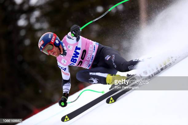 Steven Nyman of the United States skis during the Audi FIS Alpine Ski World Cup Men's Downhill Training on November 28 2018 in Beaver Creek Colorado