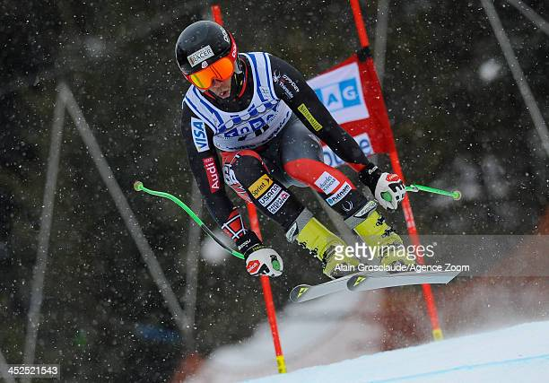 Steven Nyman of the USA competes during the Audi FIS Alpine Ski World Cup Men's Downhill Training on November 29 2013 in Lake Louise Canada