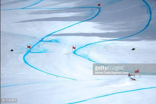 Steven Nyman of the USA competes during the Audi FIS Alpine Ski World Cup Men's Downhill Training on February 18 2016 in Chamonix France