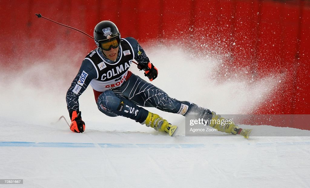 Steven Nyman of the USA competes in the FIS Skiing World Cup Men's Super-G on December 15, 2006 in Val Gardena, Italy.