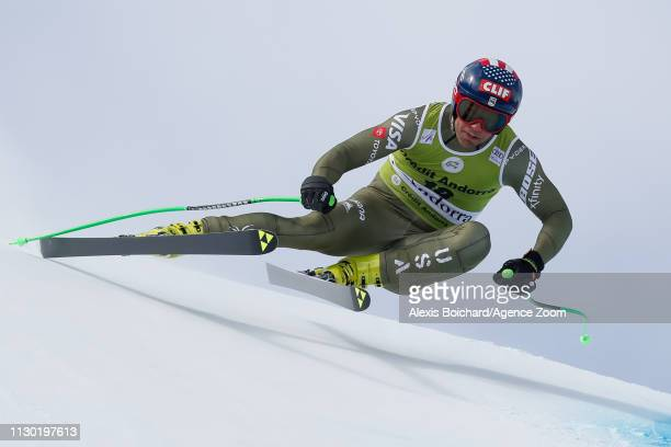Steven Nyman of USA competes during the Audi FIS Alpine Ski World Cup Men's and Women's Downhill on March 13 2019 in Soldeu Andorra