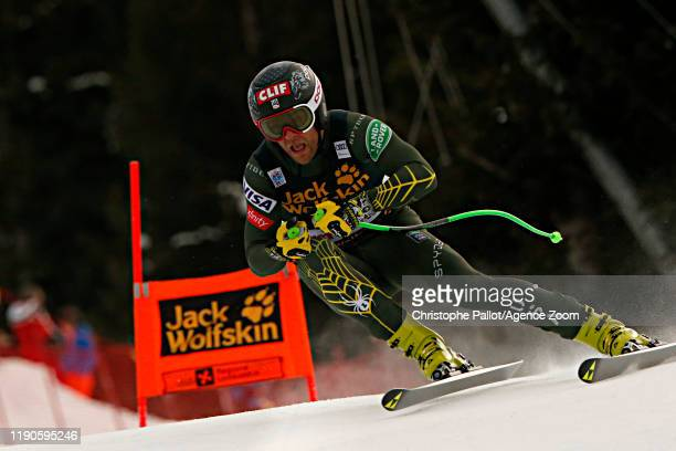 Steven Nyman of USA in action during the Audi FIS Alpine Ski World Cup Men's Downhill on December 27, 2019 in Bormio Italy.
