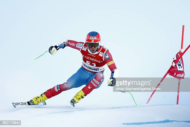 Steven Nyman of USA in action during the Audi FIS Alpine Ski World Cup Men's SuperG on January 20 2017 in Kitzbuehel Austria