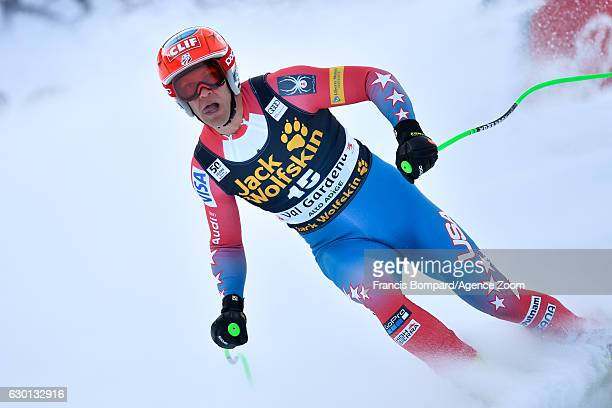Steven Nyman of USA takes 3rd place during the Audi FIS Alpine Ski World Cup Men's Downhill on December 17, 2016 in Val Gardena, Italy