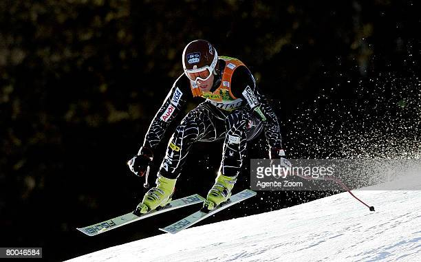 Steven Nyman of USA takes 5th place during training for the Alpine FIS Ski World Cup Men's Downhill on February 28, 2008 in Kvitfjell, Norway.