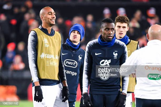 Steven Nzonzi Antoine Griezmann Blaise Matuidi and Benjamin Pavard of France during the Nations League match between Netherlands and France at De...