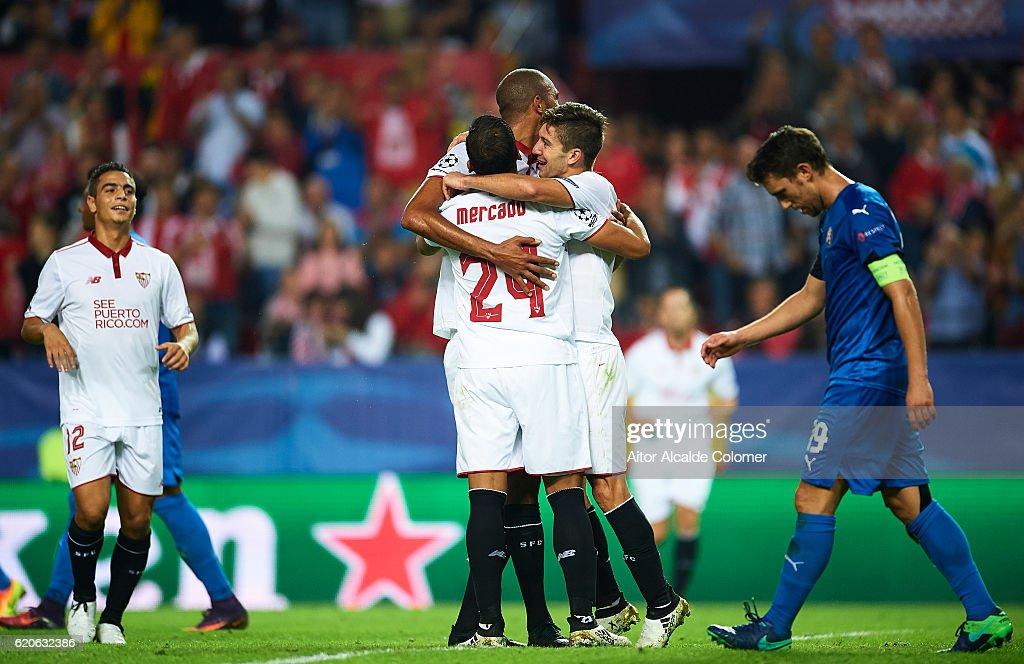 Sevilla FC v GNK Dinamo Zagreb - UEFA Champions League : News Photo