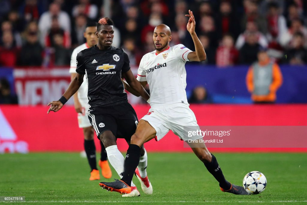 Sevilla FC v Manchester United - UEFA Champions League Round of 16: First Leg : Photo d'actualité