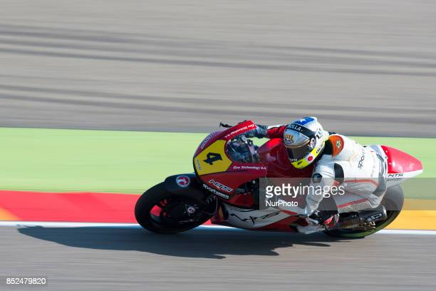 Steven Odendaal NTS NT in the free practice of the Gran Premio Movistar de Aragon Circuit of Motorland Alcañiz Spain Saturday 23rd september 2017