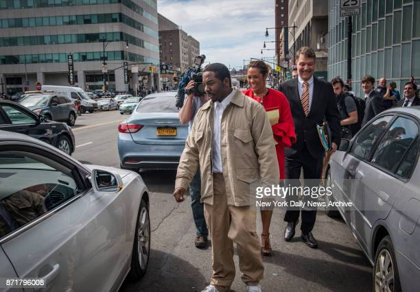 Steven Odiase who was convicted of killing a teenager and sentenced to 25 to life leaves the Bronx Hall of Justice after an order to vacate his...