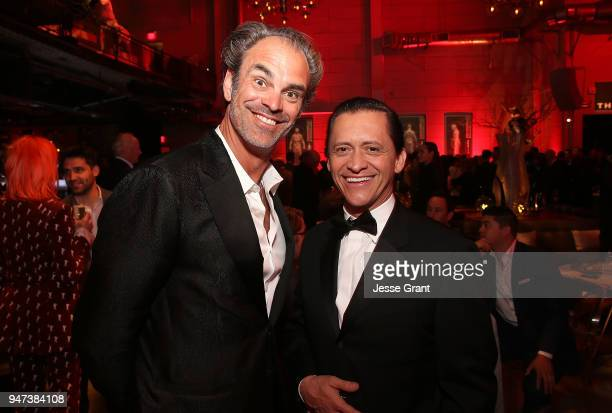 Steven Ogg and Clifton Collins Jr attend the Premiere of HBO's Westworld Season 2 After Party on April 16 2018 in Los Angeles California
