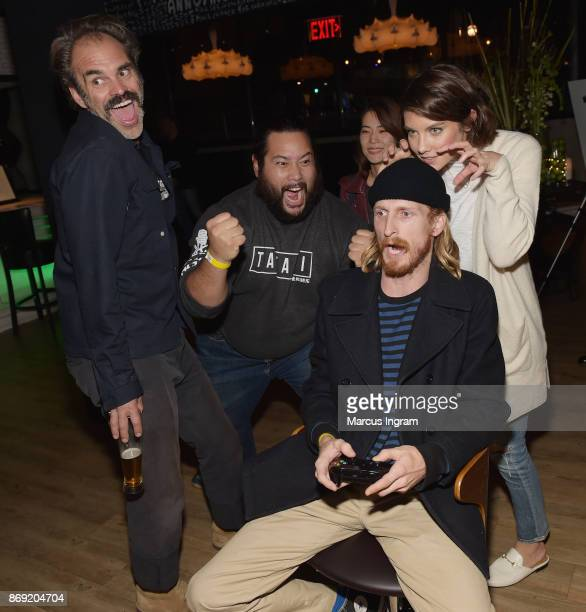 Steven Ogg Cooper Andrews Guest Austin Amelio and Lauren Cohan attend the Xbox One X Launch Event at 5Church on November 1 2017 in Atlanta Georgia