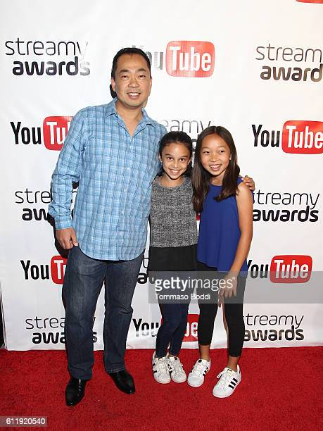 Steven Oh and family attend the official Streamy Awards nominee reception at YouTube Space LA on October 1 2016 in Los Angeles California