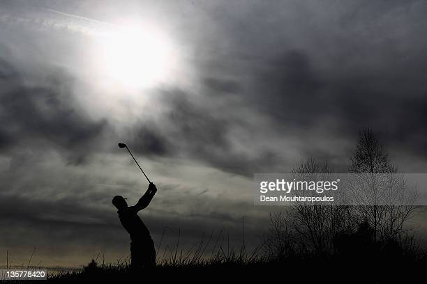 Steven O'Hara of Scotland hits his tee shot on the 6th hole during Round 5 of the European Tour Qualifying School Final at the PGA Catalunya Resort...