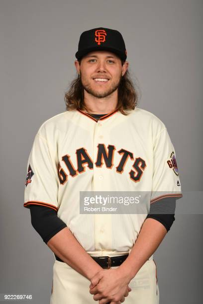 Steven Okert of the San Francisco Giants poses during Photo Day on Tuesday February 20 2018 at Scottsdale Stadium in Scottsdale Arizona