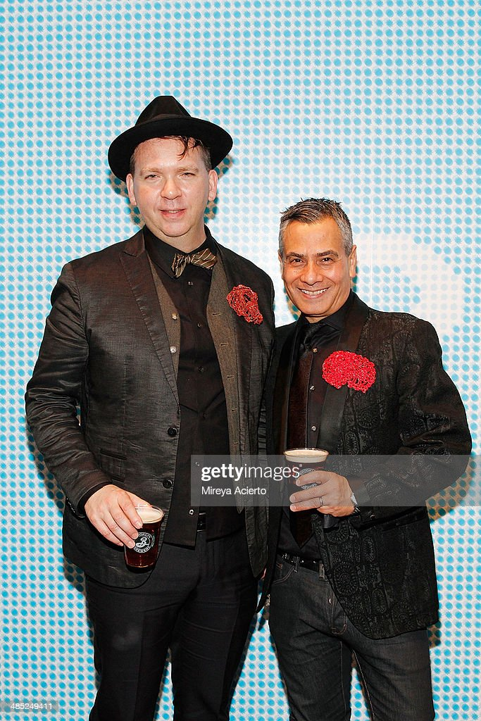 Steven P. Harrington and Jaime Rojo of Brooklyn Street Art attend the Brooklyn Museum's 4th annual Brooklyn Artists Ball on April 16, 2014 in the Brooklyn borough of New York City.