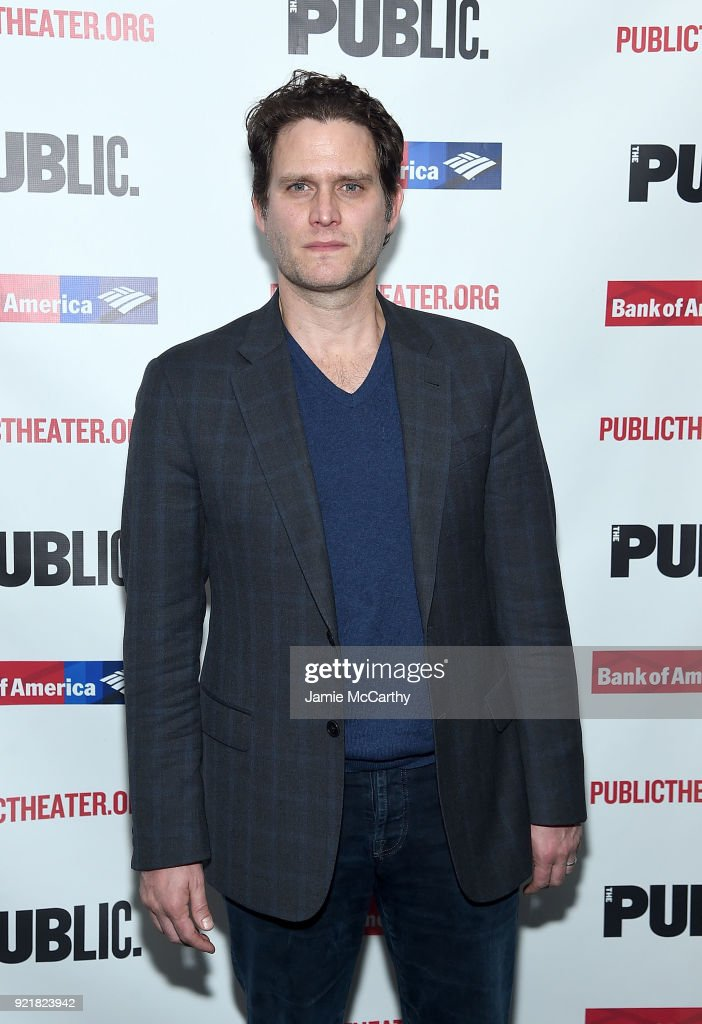 Steven Paquale attends the 'Kings' Opening Night at The Public Theater on February 20, 2018 in New York City.